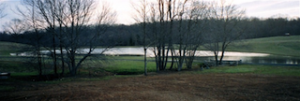 Pond and Entrance Road built by Monomoy Inc., in Rappahannock County, Virginia
